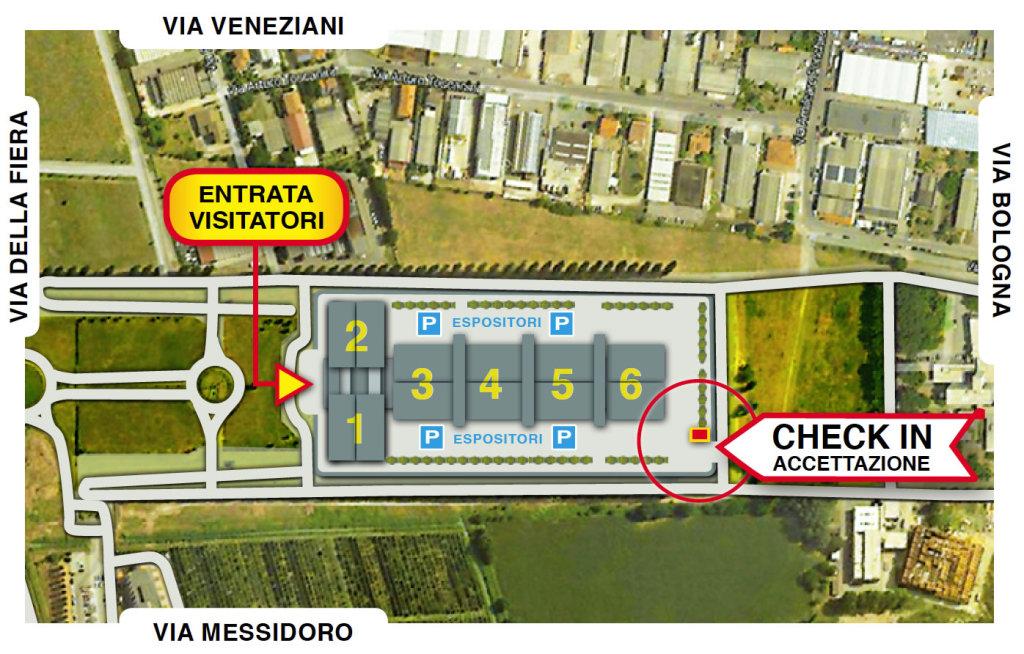 Mappa della Fiera di Ferrara